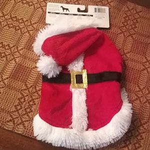 Santa Suit Dog/Pet Costume Extra Small Never Worn